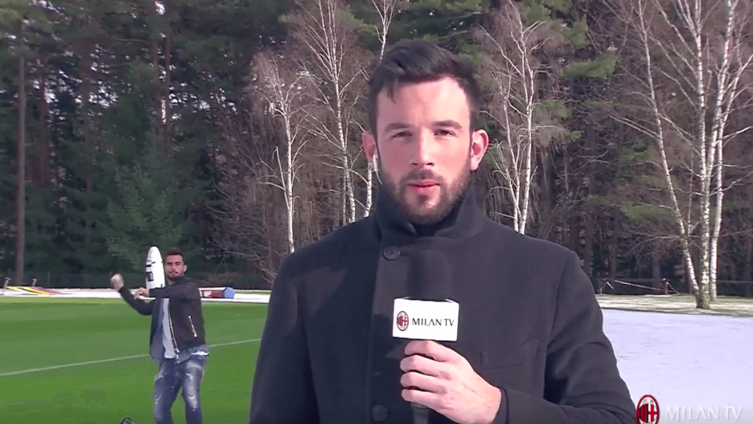 AC Milan's Suso nails journalist with snowball during training