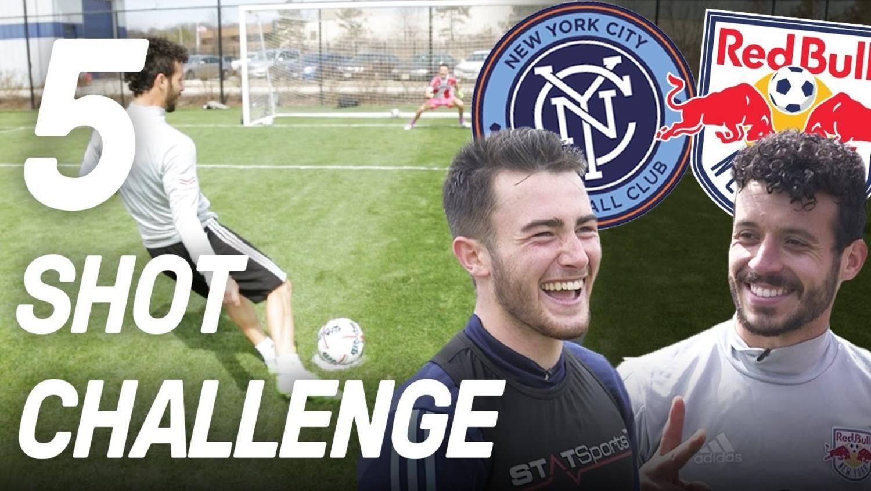 New York City FC vs New York Red Bulls | 5 Shot Challenge ft Jack Harrison & Felipe