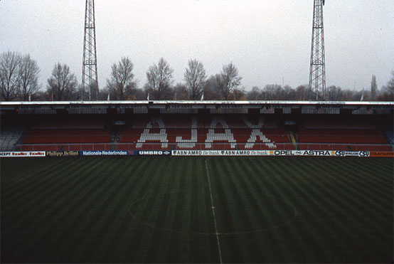 The old Amsterdam stadium that lives on as an organ donor for houses, sporting accommodation and a restaurant