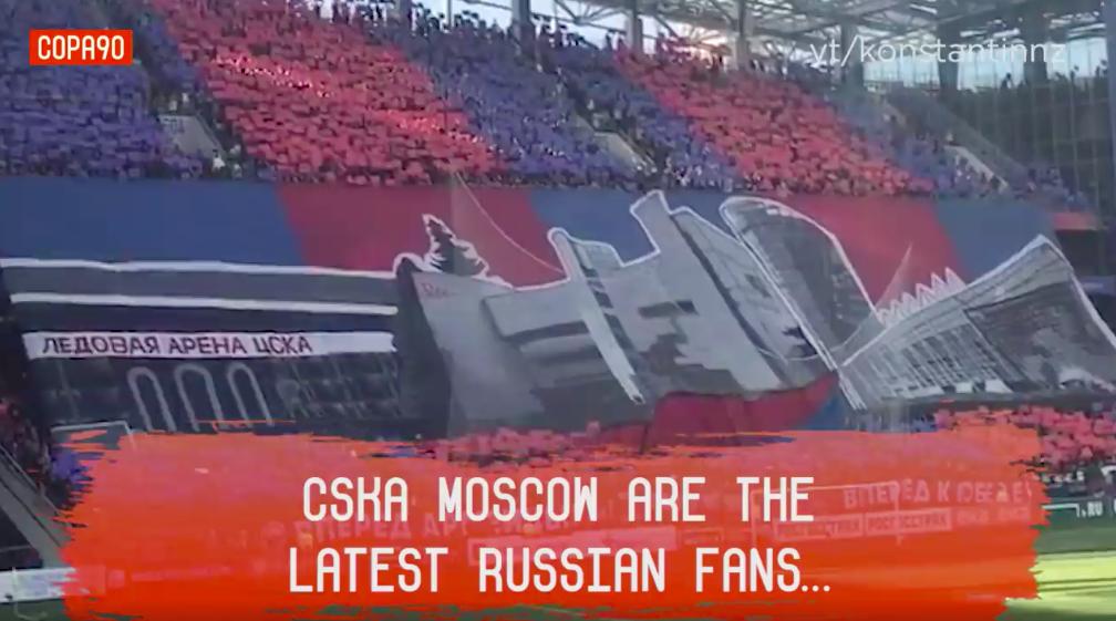 CSKA Moscow tifo