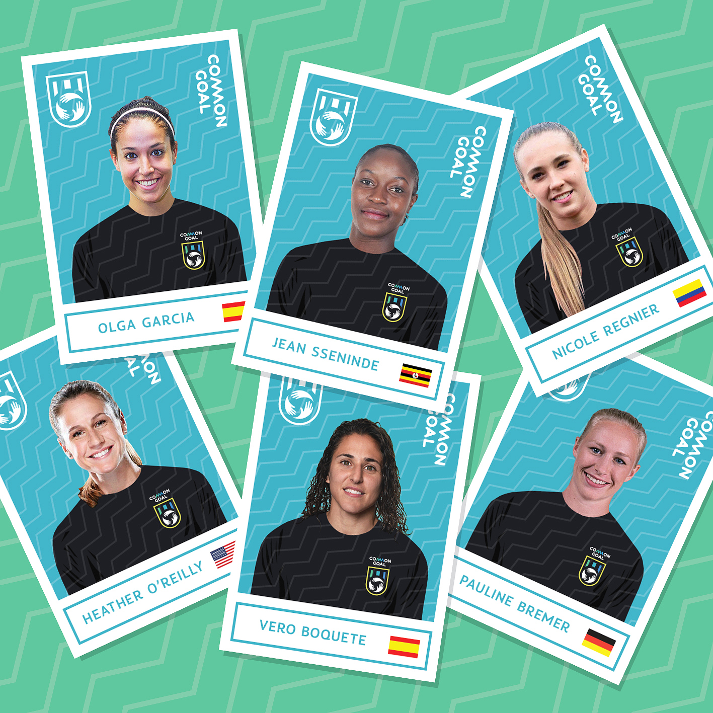 Six female players are the newest Common Goal signings
