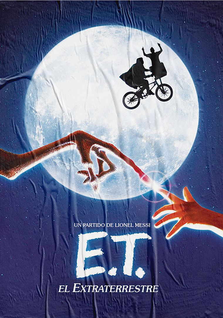 'E.T. the Extra-Terrestrial'. Starring Lionel Messi.