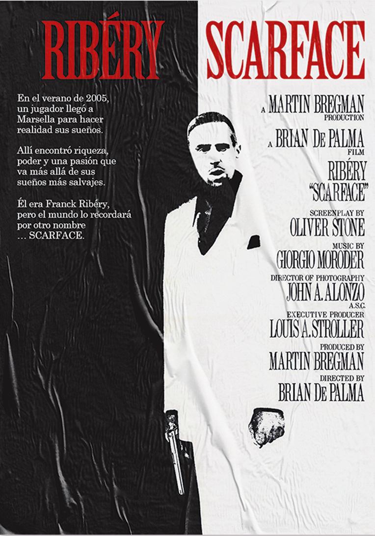 'Scarface'. Starring Frank Ribéry.