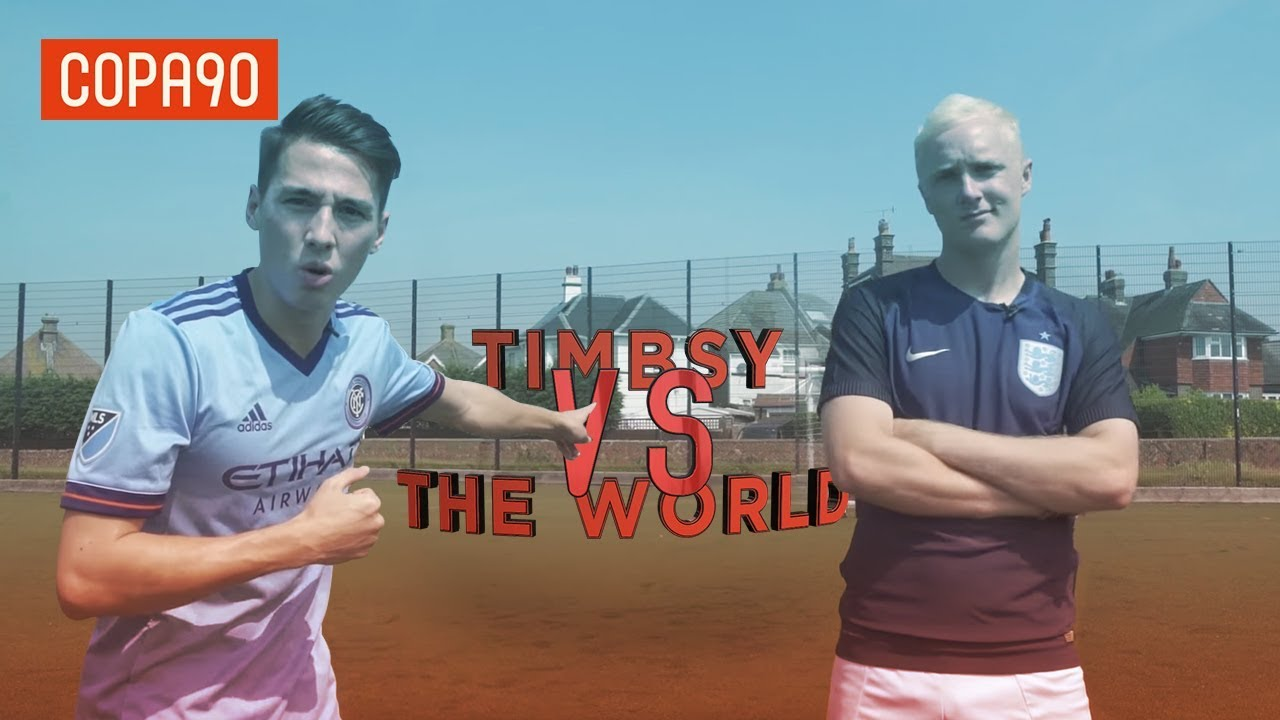 Ultimate Striker Challenge vs Theo Baker! | Timbsy vs The World