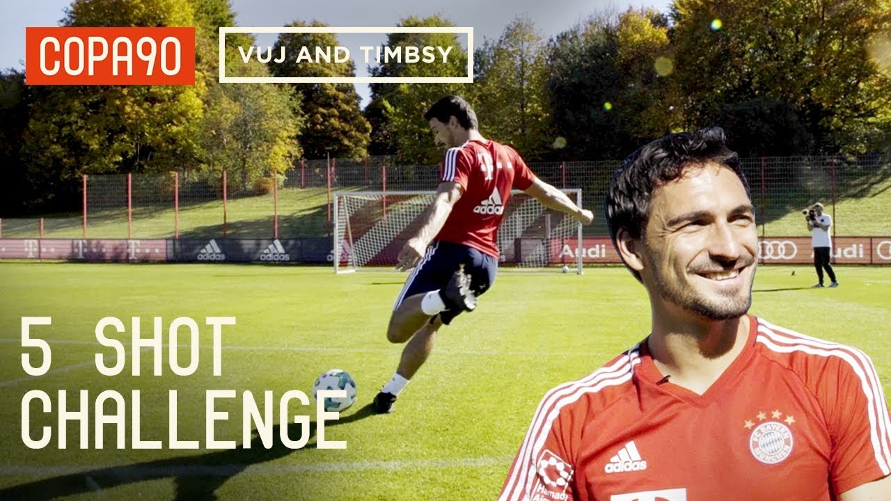 5 Shot Challenge With Mats Hummels! ft. Timbsy and Vuj